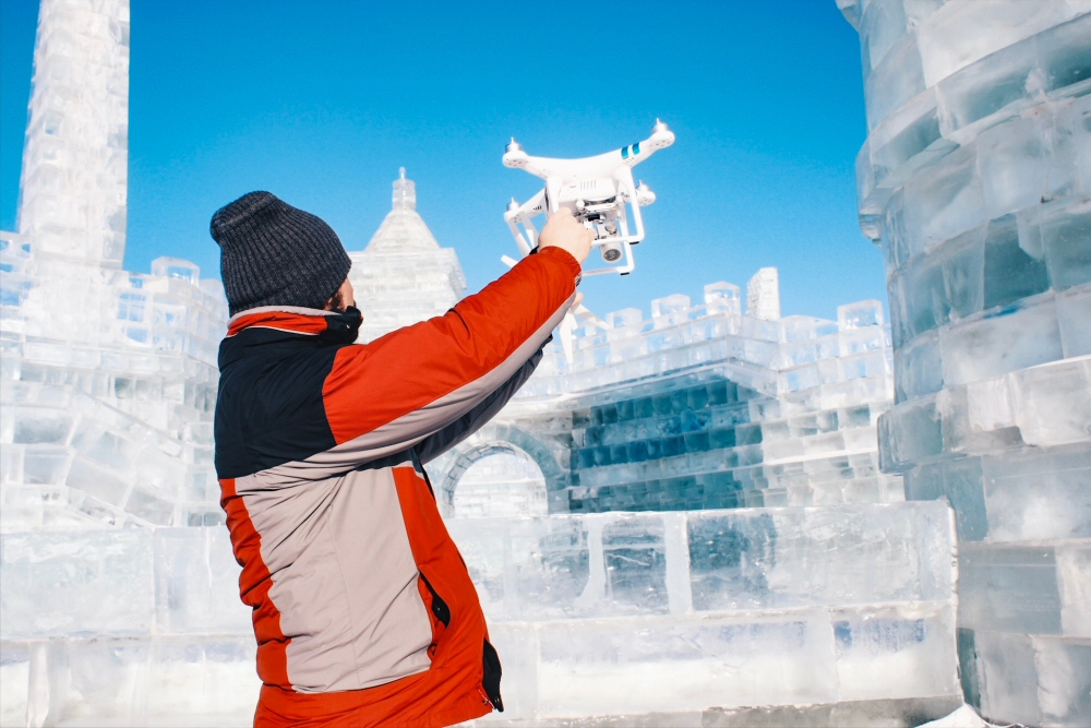 Traveling with a Drone in Winter