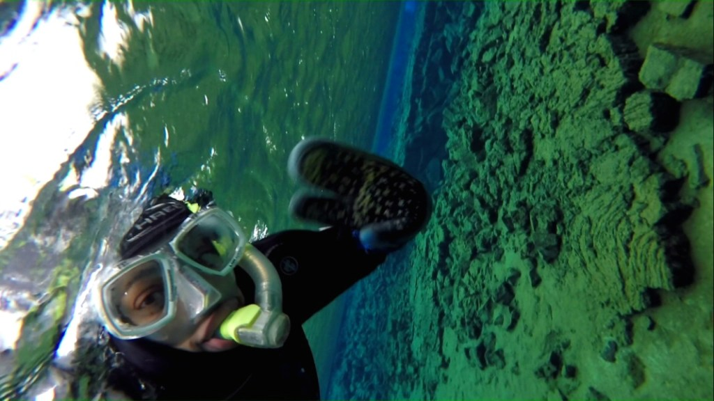 Snorkelling in Iceland, one of the top tourist Iceland points of interest