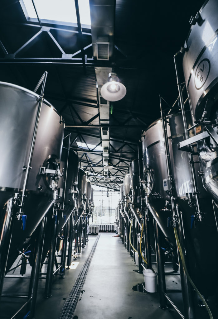 Magpie Brewery Tour in Jeju Korea takes you through the fermenters
