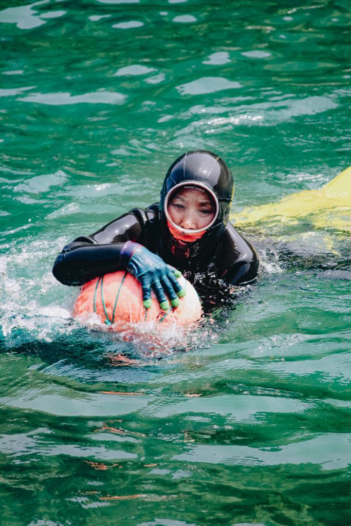 Grandma Haenyeo Divers in Seongsan-ri, Jeju-do, South Korea
