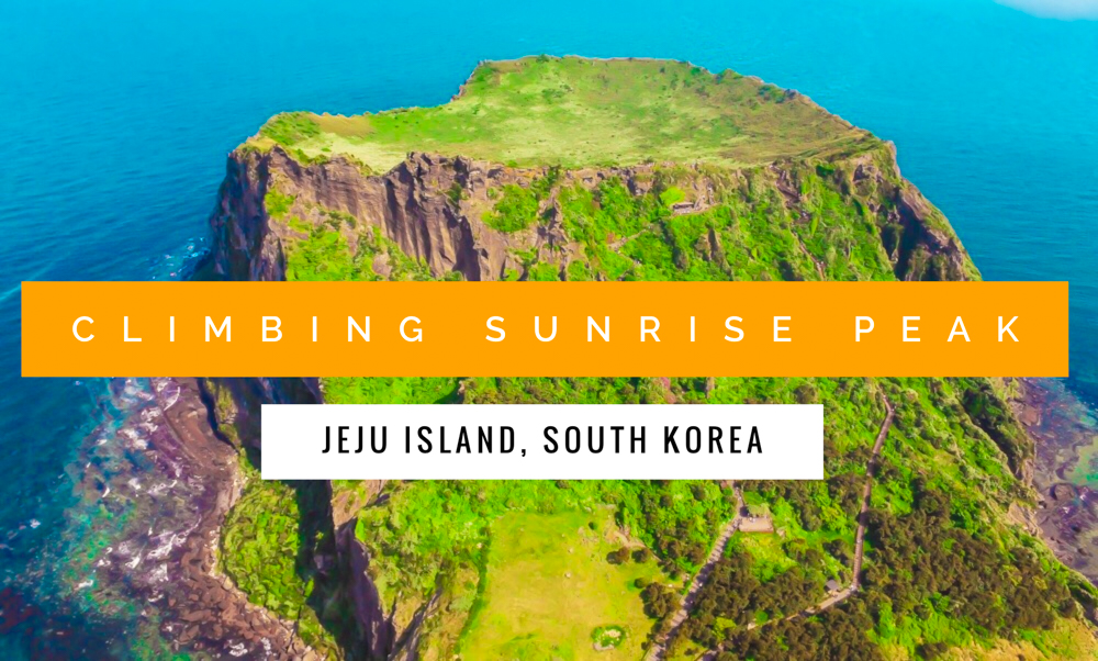 A guide for climbing the Jeju Island, Korea icon of Sunrise Peak, a 100k year old crater known locally as Seongsan Ilchulbong, complete with haenyeo divers!