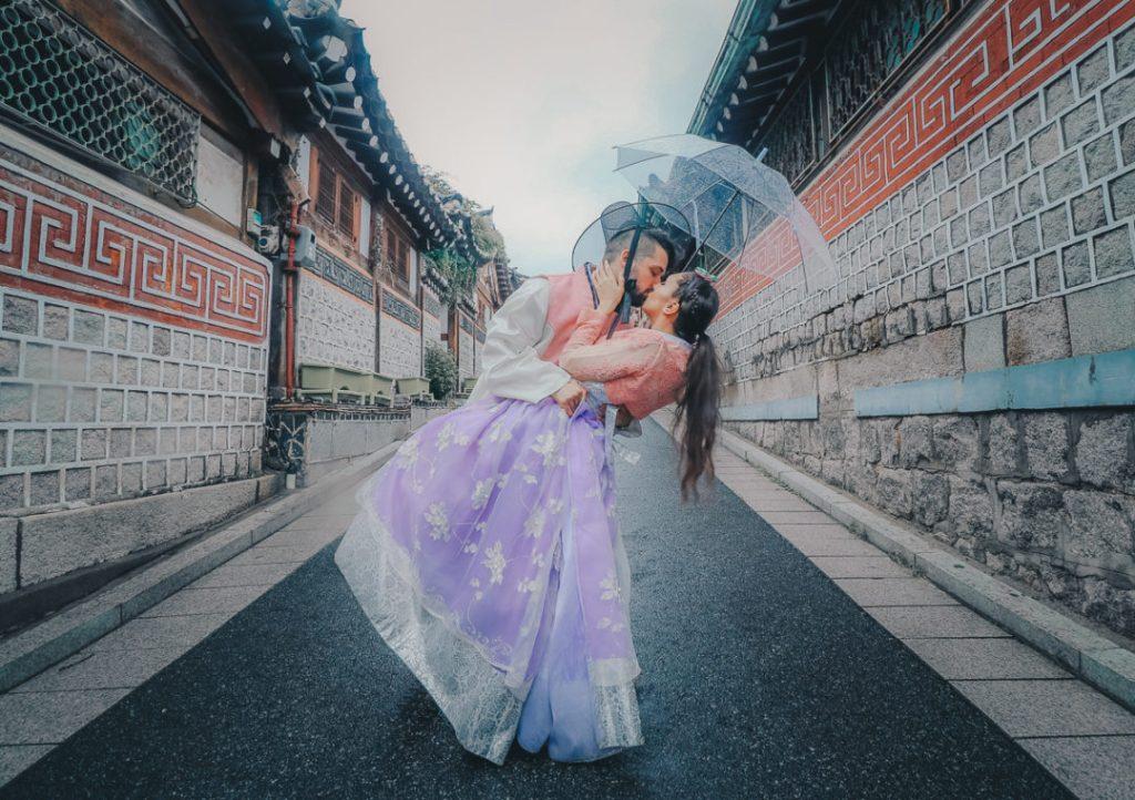Couples Hanbok Rental in Seoul, South Korea
