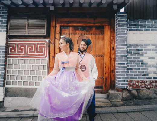 Renting a Korean Traditional Hanbok for Couples