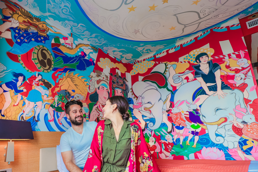 Festival Art at the best hotel for experience Japan Culture Travel
