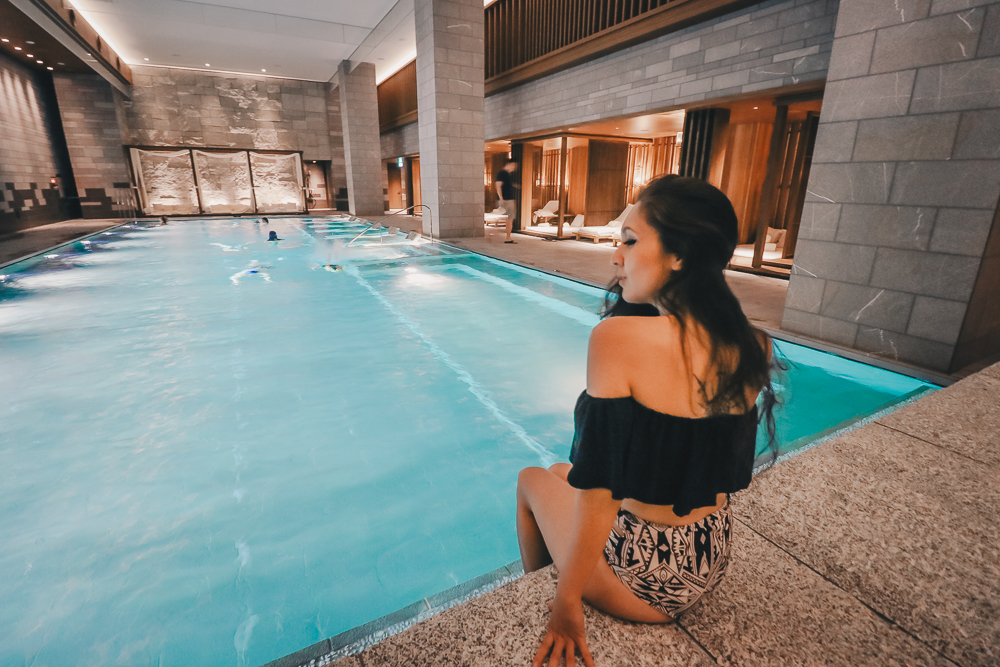 Indoor Pool and whirpool jacuzzi at the Four Seasons Kyoto Hotel, the best new luxury hotel in Japan