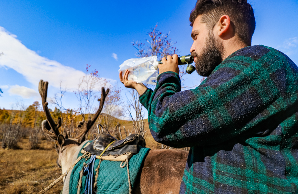 Reindeer trek in Mongolia, and getting clean water during it