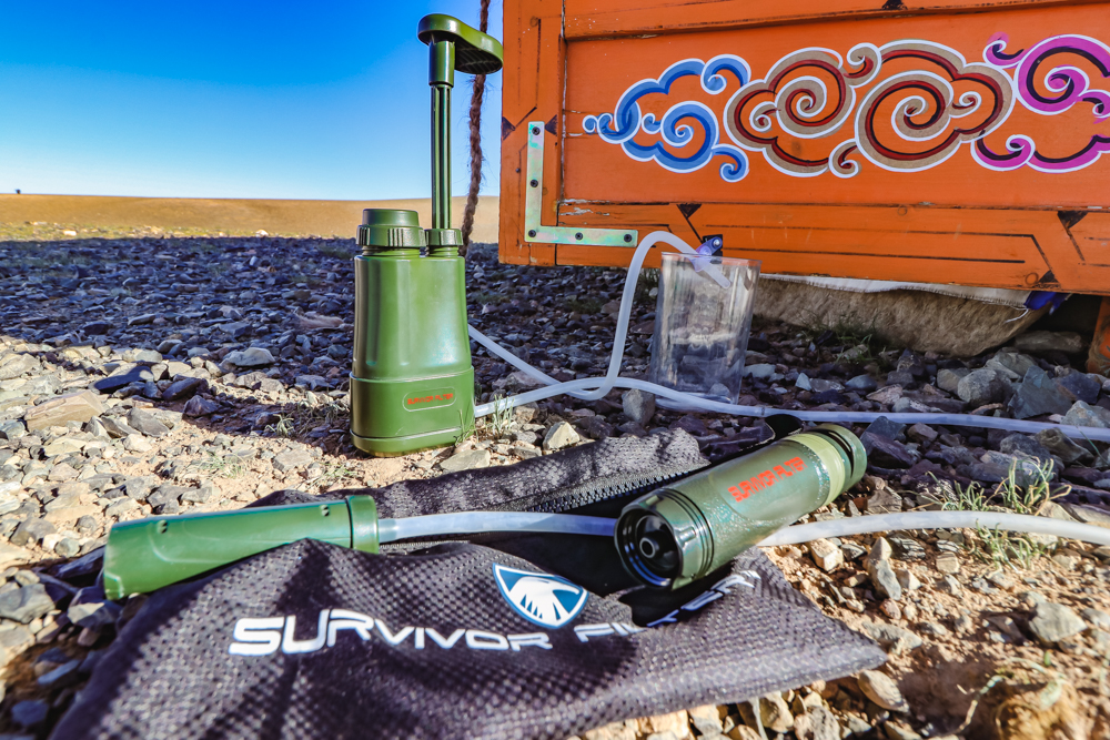 Survivor Filter Pro Review for How to Purify Water while traveling