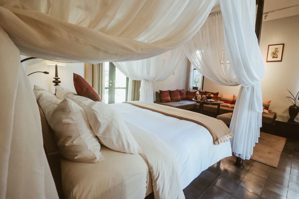 Garden Suite bedroom at the Sofitel Luang Prabang accommodation