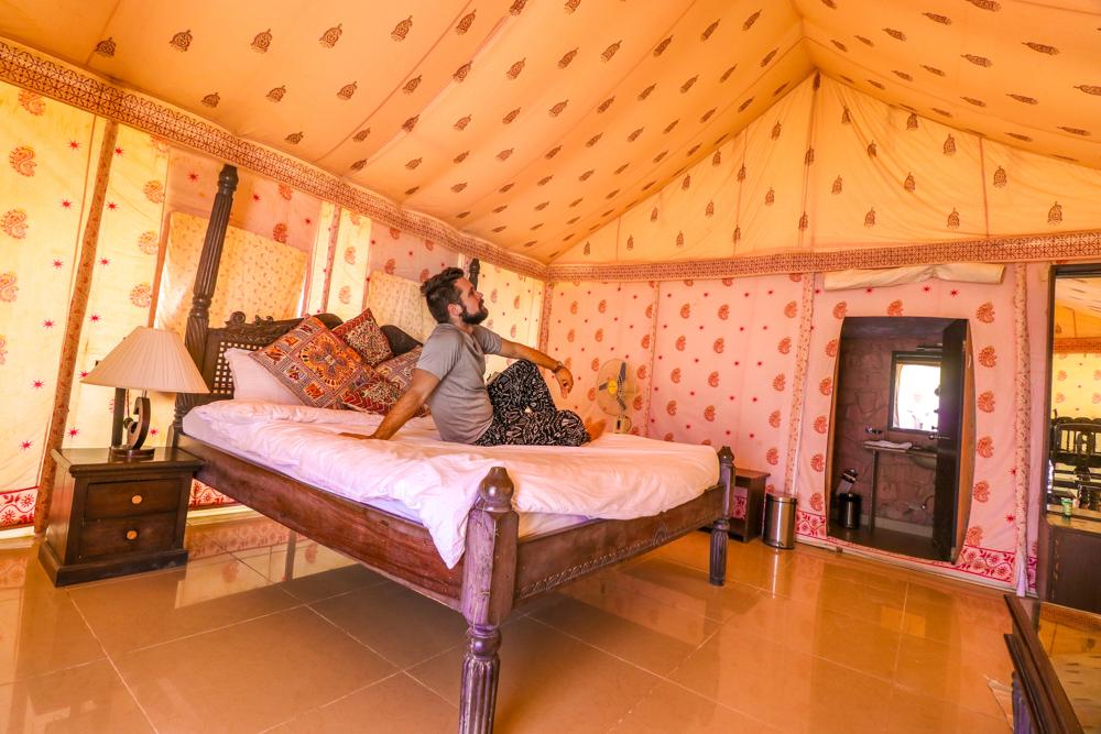 Rajasthan desert camp tent