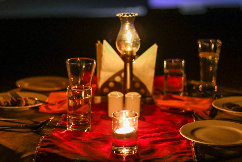 Thar Oasis Desert camp romantic dinner on the dunes