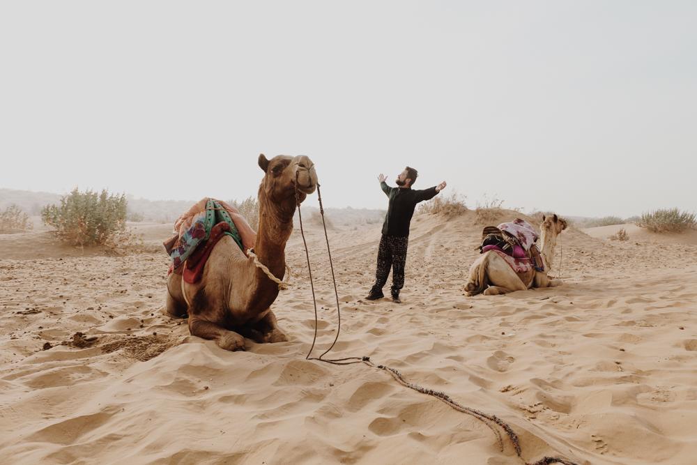 Waking up on Indian sand dunes