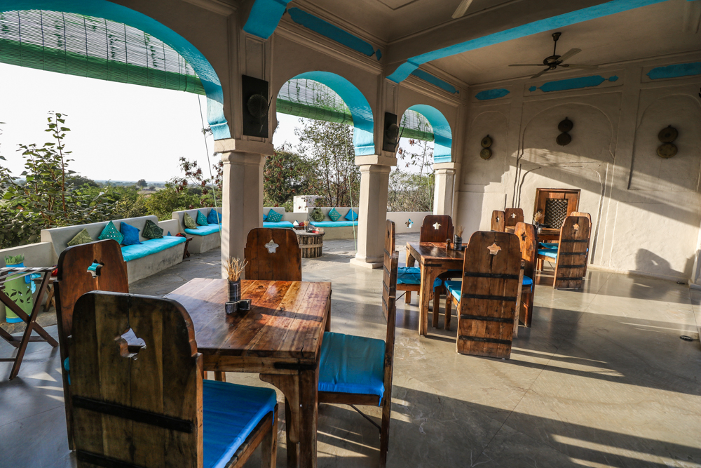 Dining area at Lakshman Sagar in Rajasthan, India