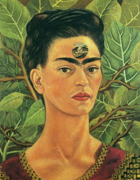 "Frida Kahlo ""Thinking about death 1943""; Źródło: frifdakahlo.org"