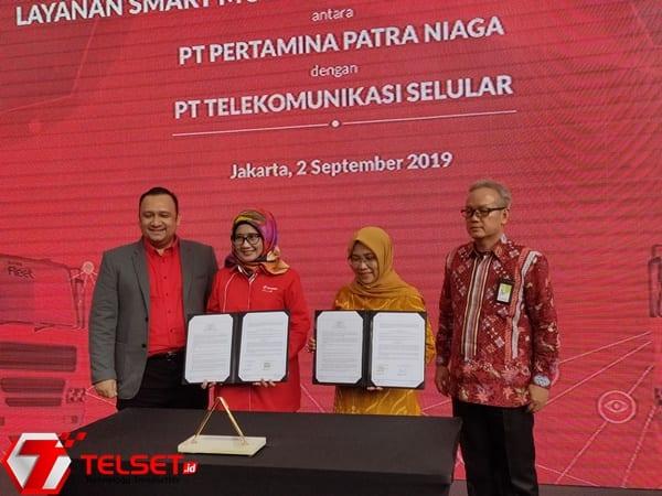 Telkomsel Digitalisasi 1.800 Truk Tangki BBM Pertamina