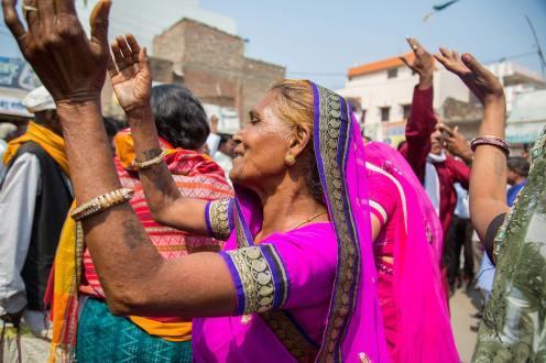 Women Dancing At the Kabir Malwa Yatra