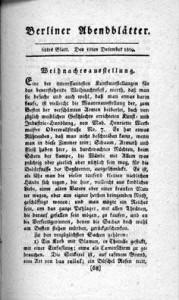 Berliner Abendblätter