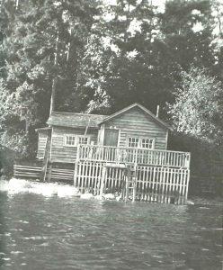 Fischerhütte von Malcolm Lowry in Dollarton, Kanada