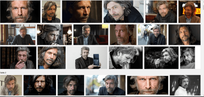 Google-Foto-Wall von Karl Ove Knausgård