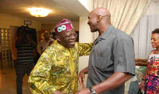 Asiwaju Bola Ahmed Tinubu and Evander Holyfield Photo