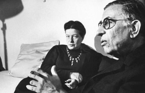 Simone de Beauvoir och Jean Paul Sartre