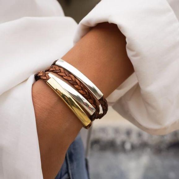 Mini Addison Braided Wrap in Gold & Silver