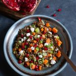 #fitfood: Lentil salad with pomegranate seeds and honey goat cheese