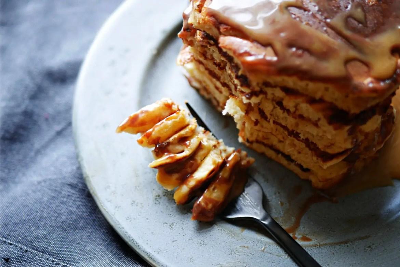 Pancakes mit Karamell