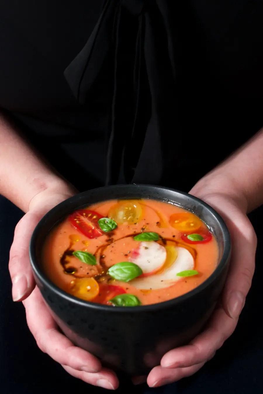 gazpacho mit Pfirsich