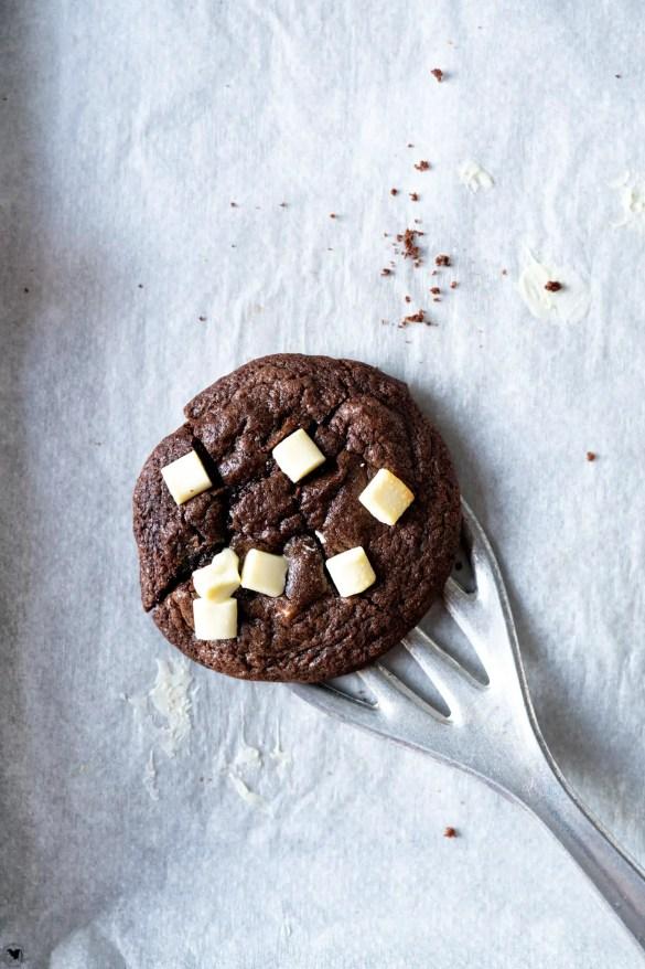 Schoko Cookies auf dem Blech