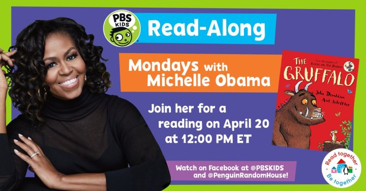 Former first lady, Michelle Obama reads weekly read-along children's books during quarantine