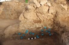 Stratigraphy beneath EB IIIB wall, Area E 2013