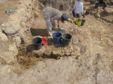 Excavating EB III levels, Area E, 2011