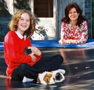 Clara Vulliamy with daughter