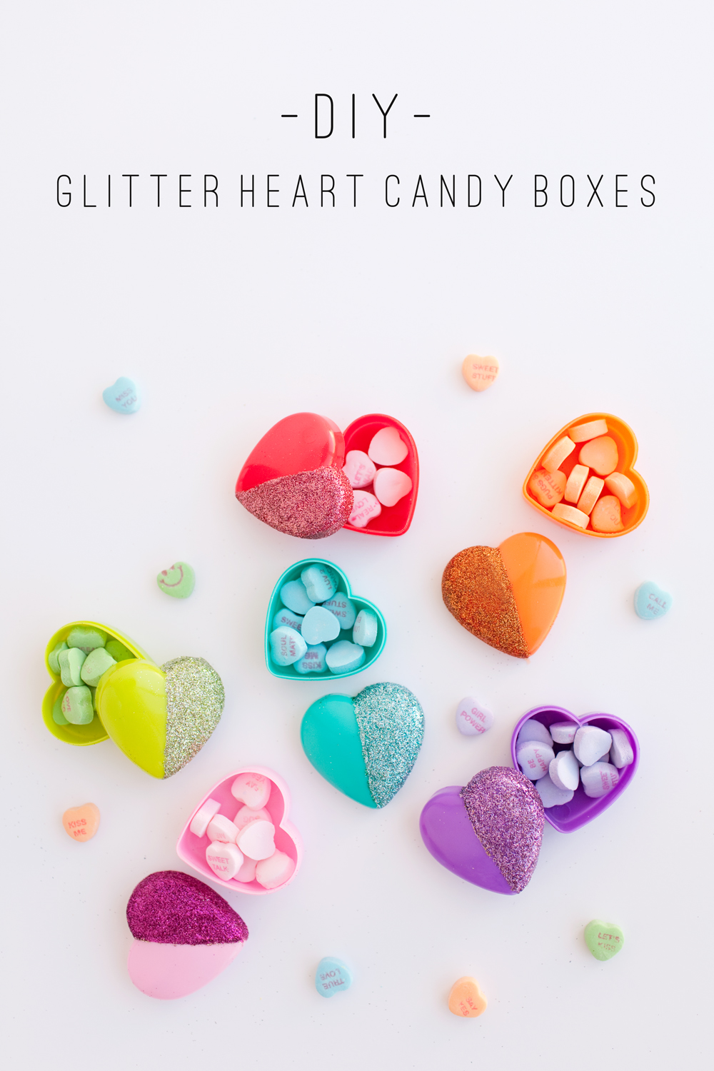TELL DIY GLITTER HEART CANDY BOXES Tell Love And Party