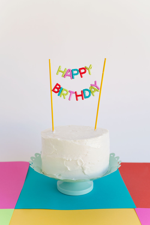 Happy Birthday Cake Topper Diy