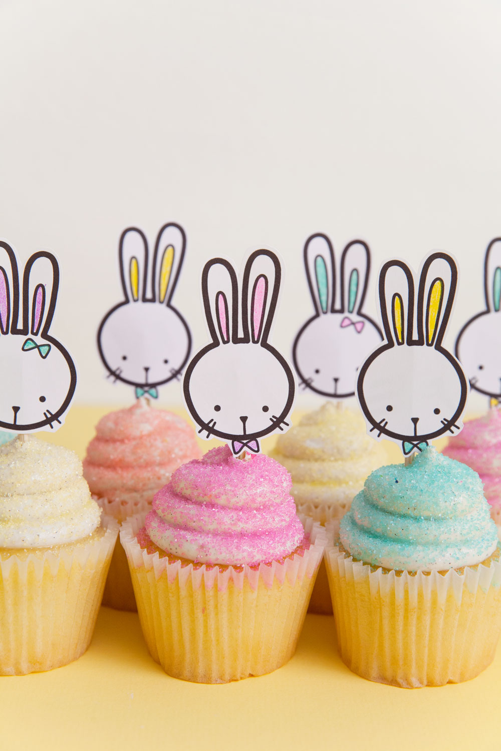 Free printable bunny cupcake topper tell love and party, printable love coloring pages