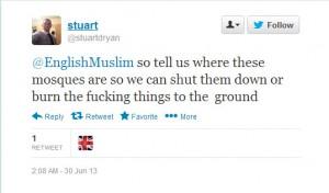 Mosque threats