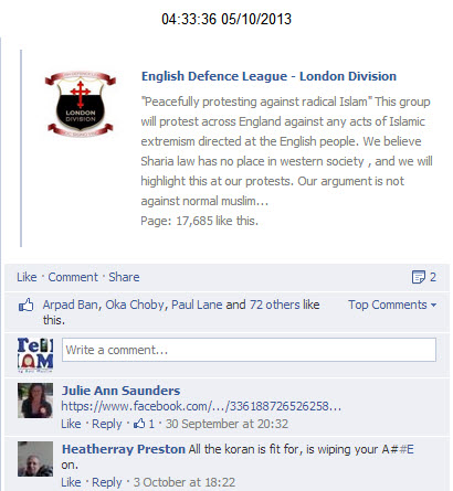 Not against Muslims EDL