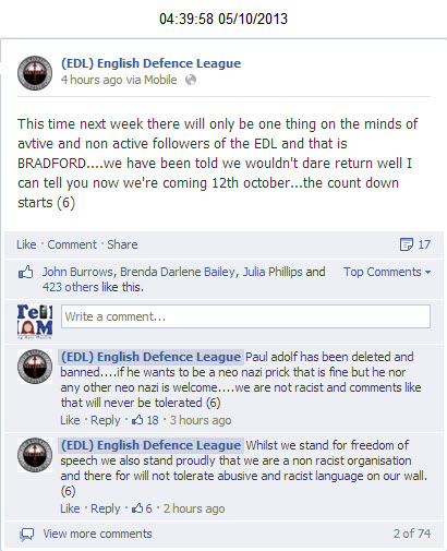 EDL we are not racist