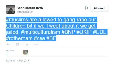 Sean Moran anti-Muslim