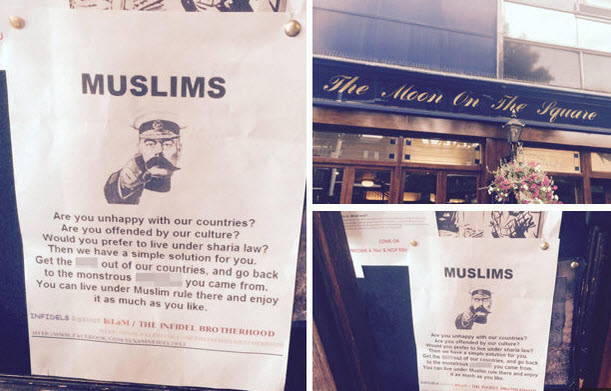 Poster Tells Muslims to 'Get the F*** Out of Our Country'