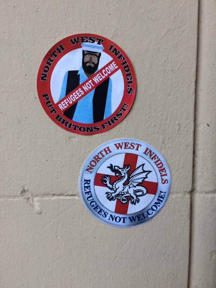 Anti-Migrant, Anti-Muslim Stickers in Coventry Should Be Reported in