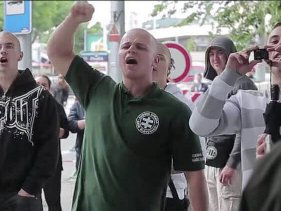 Slovak Neo-Nazi MP, Milan Mazurek, Caught on Camera Attacking Muslims in Slovakia