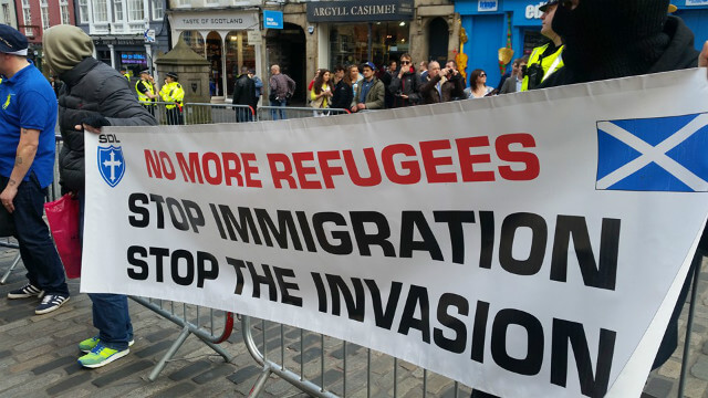 Scottish Defence League protest falls flat but brings together hardened neo-Nazis