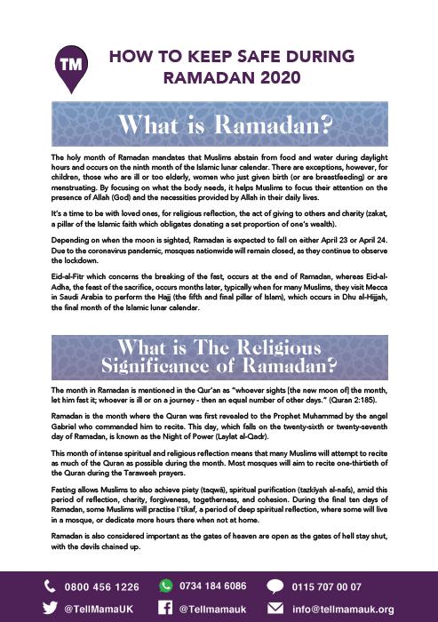 How to Keep Safe During Ramadan 2020