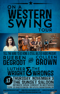 Luther Wright & The Wrongs, Rueben De Groot, and Collen Brown, Nov. 3!