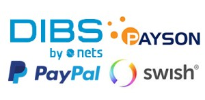 Payment providers - DIBS, Payson, PayPal, Swish