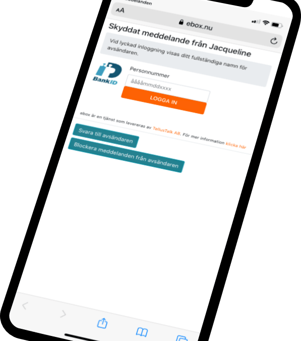 Skicka GDPR-säkra meddelanden