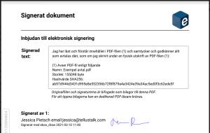 Siignerat dokument med draw