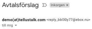 Utan visningsnamn på email